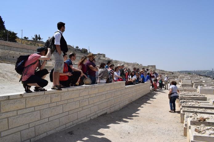 Zsidó temető Jeruzsálem keleti oldalán