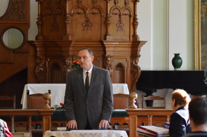 A konferenciára egybegyülteket köszönti Kállay Dezső rektor