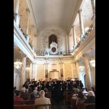A kórus istentiszteleti szolgálata Brüsszelben