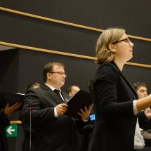 A kórus szolgálata az európai parlament épületében