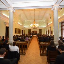 Az évnyitó ünnepély gyülekezete