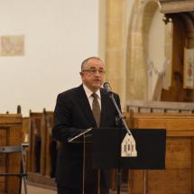 Köszöntő beszédet mond Bálint Benczédi Ferenc unitárius püspök