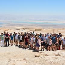 Háttérben a Holt-tenger (Massadában)