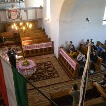 Tolnai Miklós, szilágyfőkeresztúri lelkész beszél az első éves teológusokhoz
