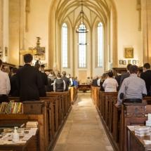 A tanévzáró istentisztelet gyülekezete